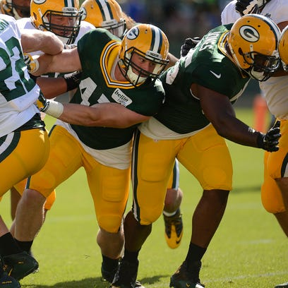 Green Bay Packers linebacker Jake Ryan (47) during