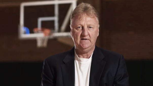 Larry Bird in a message to the fans.