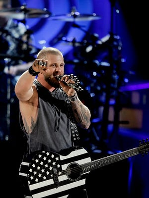 AUSTIN, TX - MAY 06:  Brantley Gilbert performs at the 2017 iHeartCountry Music Festival at The Frank Erwin Center on May 6, 2017 in Austin, Texas.  (Photo by Tibrina Hobson/WireImage)