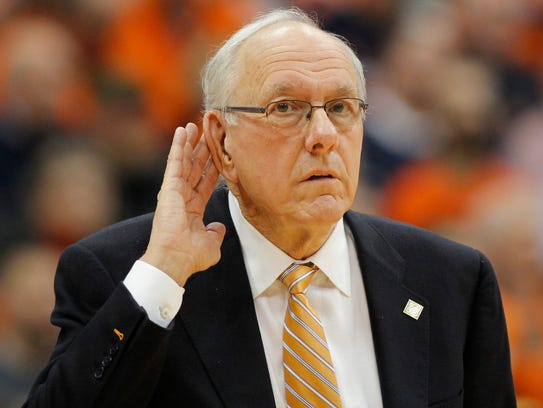 Syracuse head coach Jim Boeheim has heard all the cheers