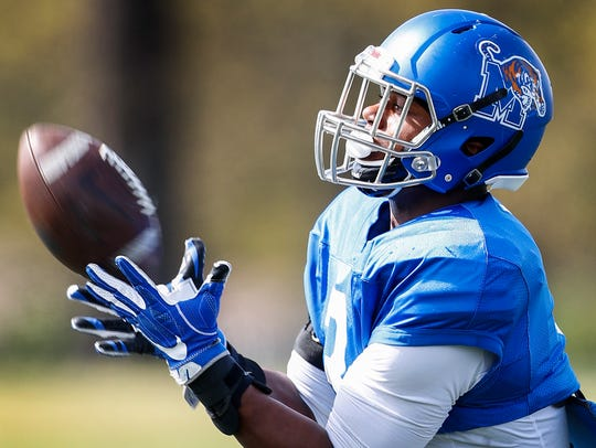 University of Memphis linebacker Keith Brown, Jr. during