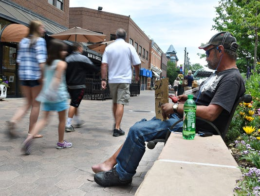 Fort Collins Old Town Square transients