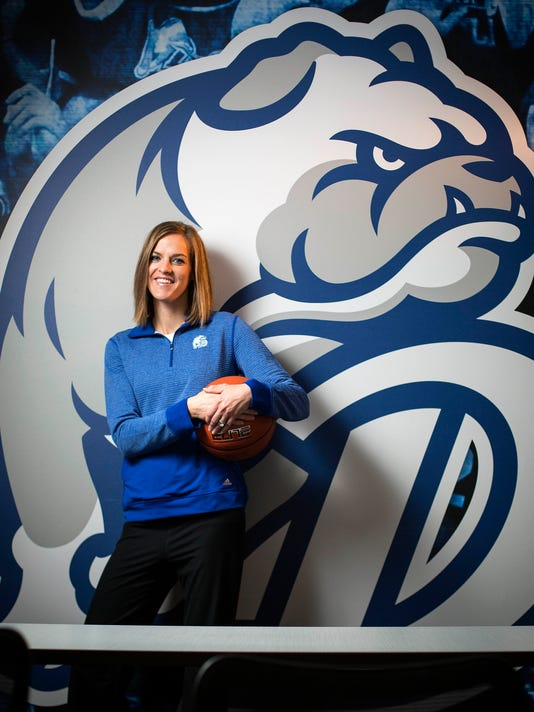 Drake Women's basketball Coach Jennie Baranczyk
