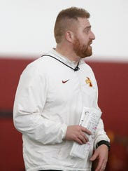 Alex Golesh, tight ends coach and recruiting coordinator,