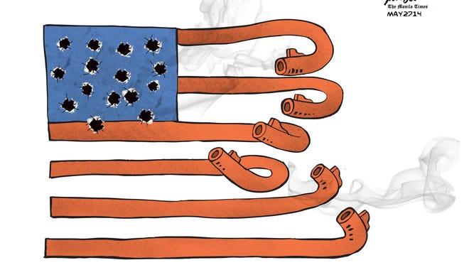 Manny Francisco, Manila, The Phillippines, drew this Desert Sun editorial cartoon for Dec. 4, 2015.