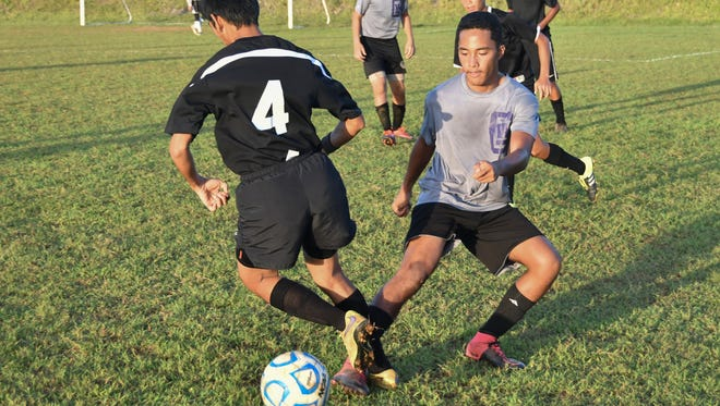 The Tiyan Titans hosted the George Washington Geckos in an Independent Interscholastic Athletic Association of Guam Boys Soccer League game in Tiyan on Nov. 23, 2016.