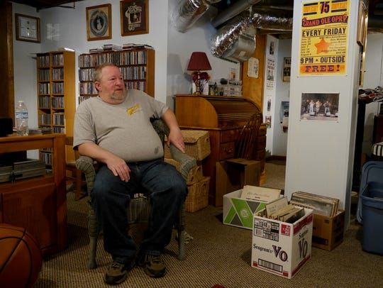 Charles Troutman of Staunton is collecting records