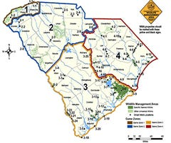 Photo CaptionSCDNR recently reorganized the state's Game Zone structure from 6 zones to 4. Hopefully this pre-positioning will lead to the adjustment of some additional facets of deer hunting, like doing away with segregated weapons seasons, across the state.