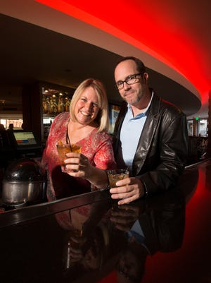 Kim Haasarud and Damon Scott are co-founders of Arizona Cocktail Week photographed at the ZuZu lounge in the Hotel Valley Ho on Monday, Jan. 19 2015 in Scottsdale, AZ. Kim Haasarud and Damon Scott are co-founders of Arizona Cocktail Week.
