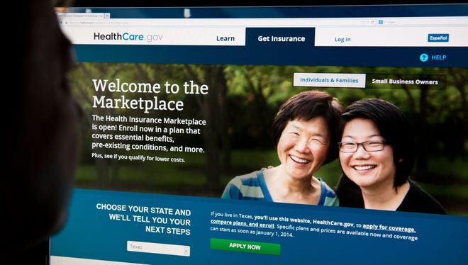 The HealthCare.gov insurance exchange Internet site.