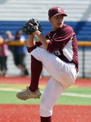 Kingston High School pitcher Avery Short delivers a