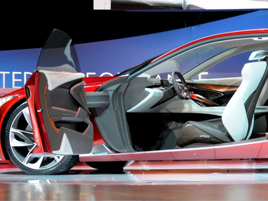 Interior of the Acura Precision Concept revealed Tuesday morning at NAIAS.