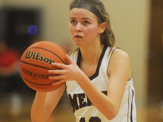 Senior guard Katie Bryce is one of nine returning players on the Mercy varsity.
