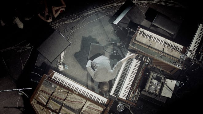 An overhead view of Nils Frahm in concert. He plays at the CAC on Nov. 17.