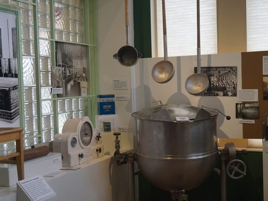 An exhibit on food services at the Oregon State Hospital