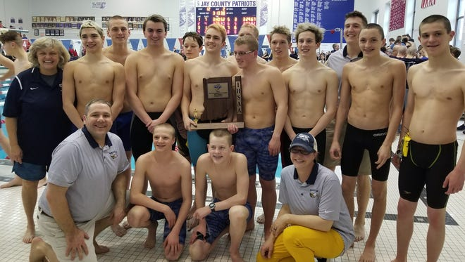 Delta won its fourth straight boys swimming sectional on Saturday at Jay County.