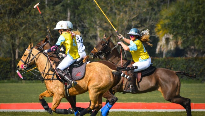 Sunday's polo action was held without fans in the stands due to the coronavirus.