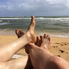My wife and I on our anniversary on Kauai