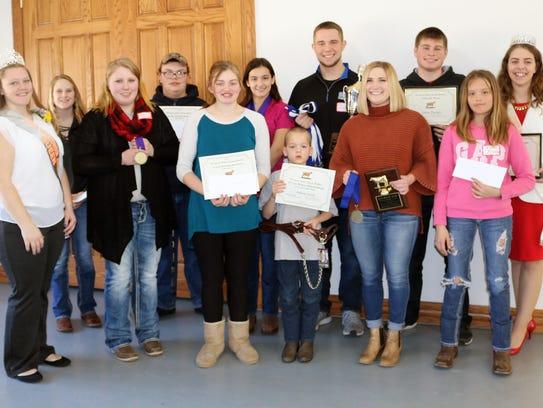 Wisconsin Jr. Breeder award winners are (back row)
