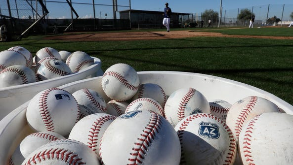 The Milwaukee Brewers train at Maryvale Baseball Park