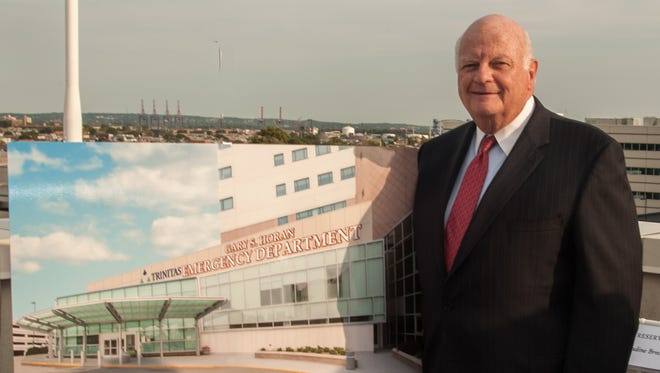 Gary S. Horan, president and CEO of Trinitas Regional Medical Center, following the unveiling of the new Gary S. Horan Emergency Department. The $18.7 million project was completed recently.