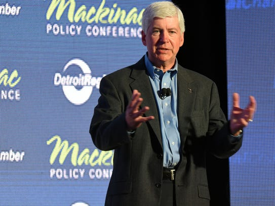 Rick Snyder, a former CEO, is making his final appearance as Michigan's governor at this week's Mackinac Policy Conference