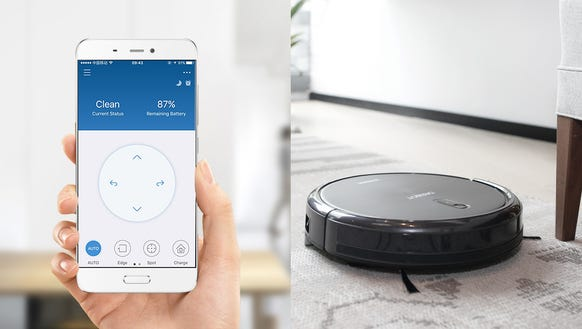 This robot vacuum has an app and works with Amazon