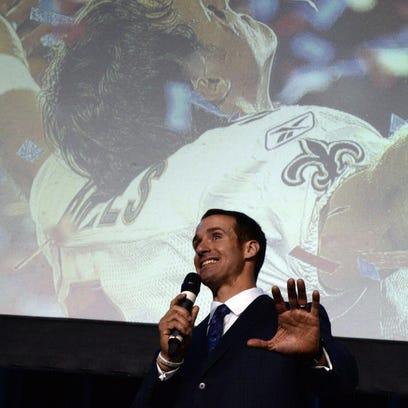New Orleans Saints quarterback Drew Brees entertained