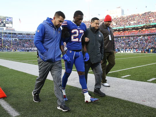 Tre'Davious White was injured after being hit while