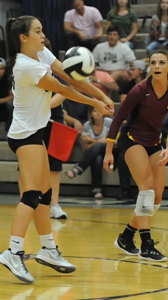 Tuesday night volleyball action as Central Catholic