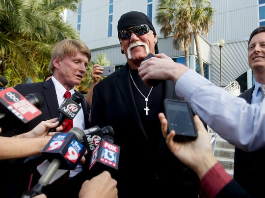 Hulk Hogan, whose given name is Terry Bollea, speaks
