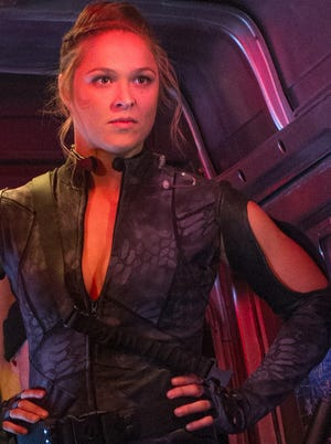 "Ronda Rousey as Luna in ""The Expendables 3."""