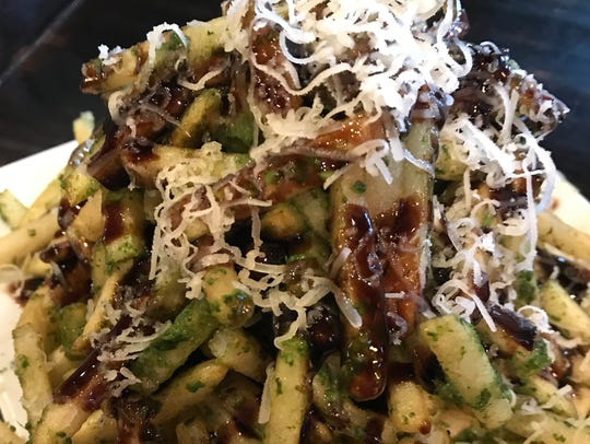 Pesto fries at Rustique Pizzeria in Suamico
