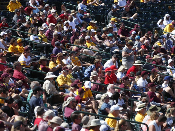Fans pack the seats for a rivalry matchup of ASU and