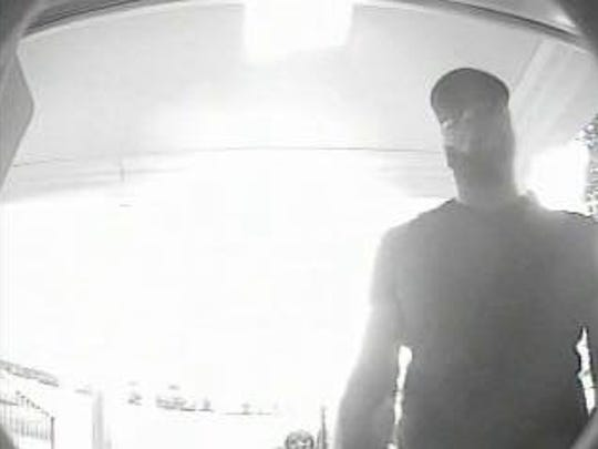Cape Coral police are looking for this man in connection with a credit/debit card skimming device placed at SunTrust bank.