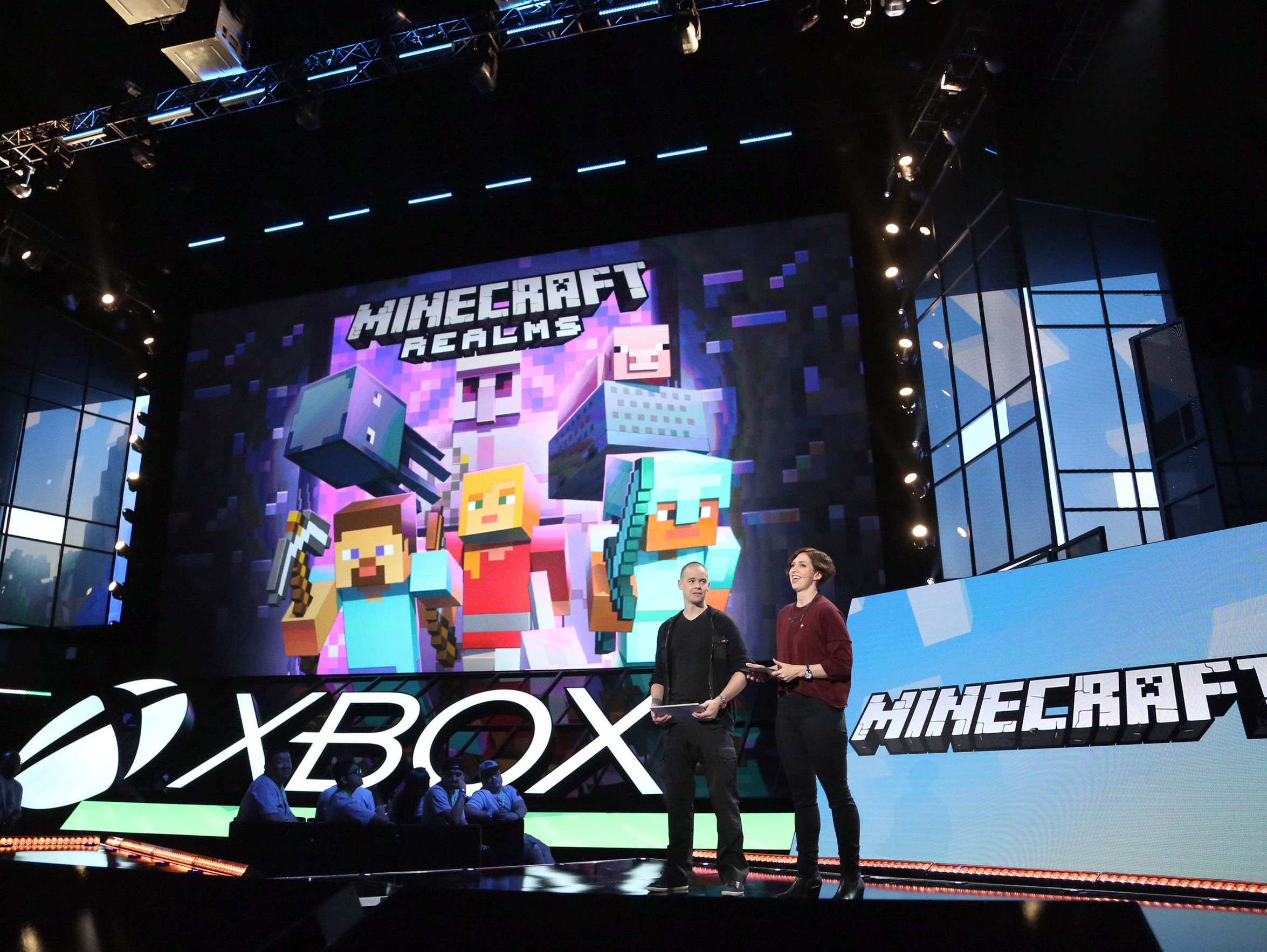 Minecraft team Lydia Winters and Sax Persson announce
