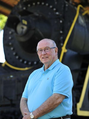 Jim Fyke stands in front of the Nashville, Chattanooga & St. Louis Locomotive #576 at Centennial Park Aug. 25, 2015. After 50 years of serving Nashville and Tennessee parks systems, Fyke will get the honor of having Metro Parks headquarters named after him.