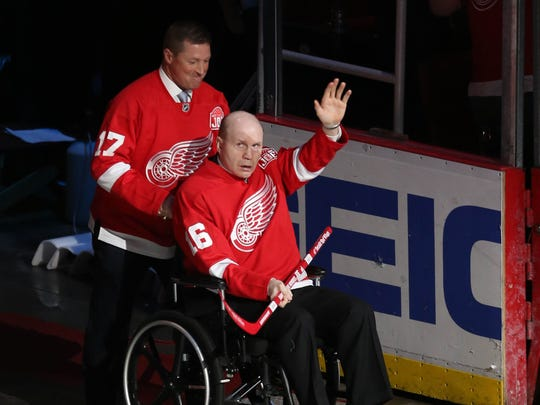 Former Red Wings' Doug Brown and Vladimir Konstantinov