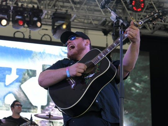 Luke Combs kicks off the music at This Tent during