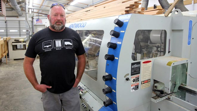 Owner Travis Walker started Walker Woodworking as a hobby 20 years ago.