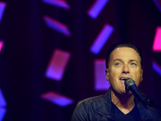 Michael W. Smith performs at the Regional Inter-Faith Association Canstruction 2016 fundraising event, Thursday evening at the Carl Perkins Civic Center.