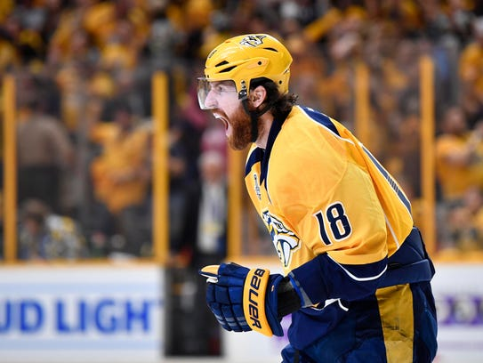 The Predators lost James Neal to the Vegas Golden Knights in the NHL expansion draft last June.