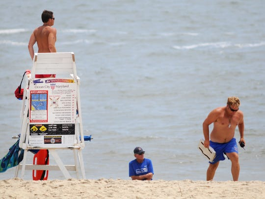 In this file photo, members of the Ocean City Beach