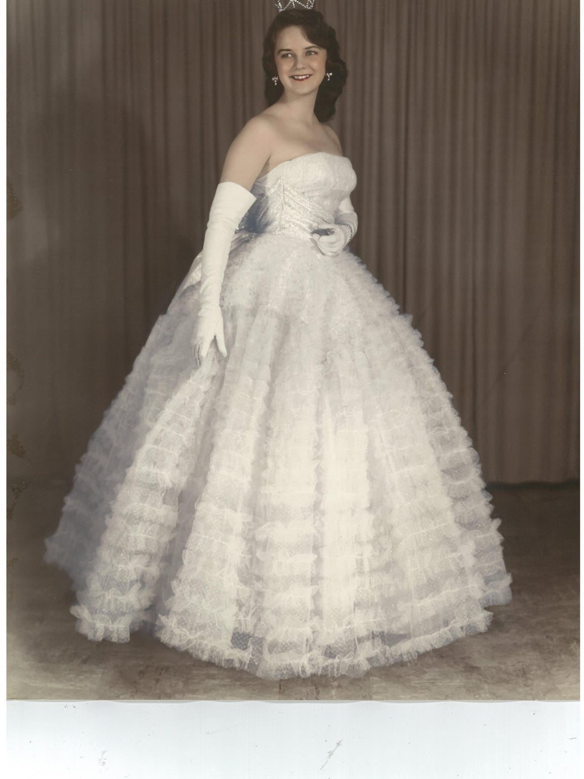 1957 photo of Mary Horton, Homecoming Queen at Eunice