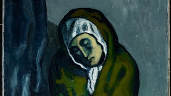 "Pablo Picasso's La Miséreuse accroupie, painted in 1902, was one of the artists famed ""Blue Period"" paintings."