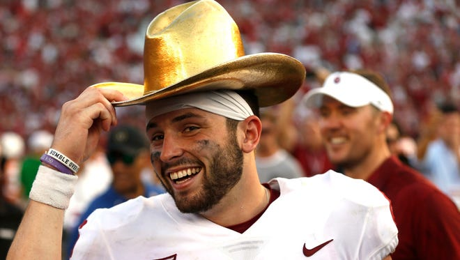Baker Mayfield won the Heisman Trophy this season. Now he may have a chance to beat the previous two national champions and win one of his own in his senior year.