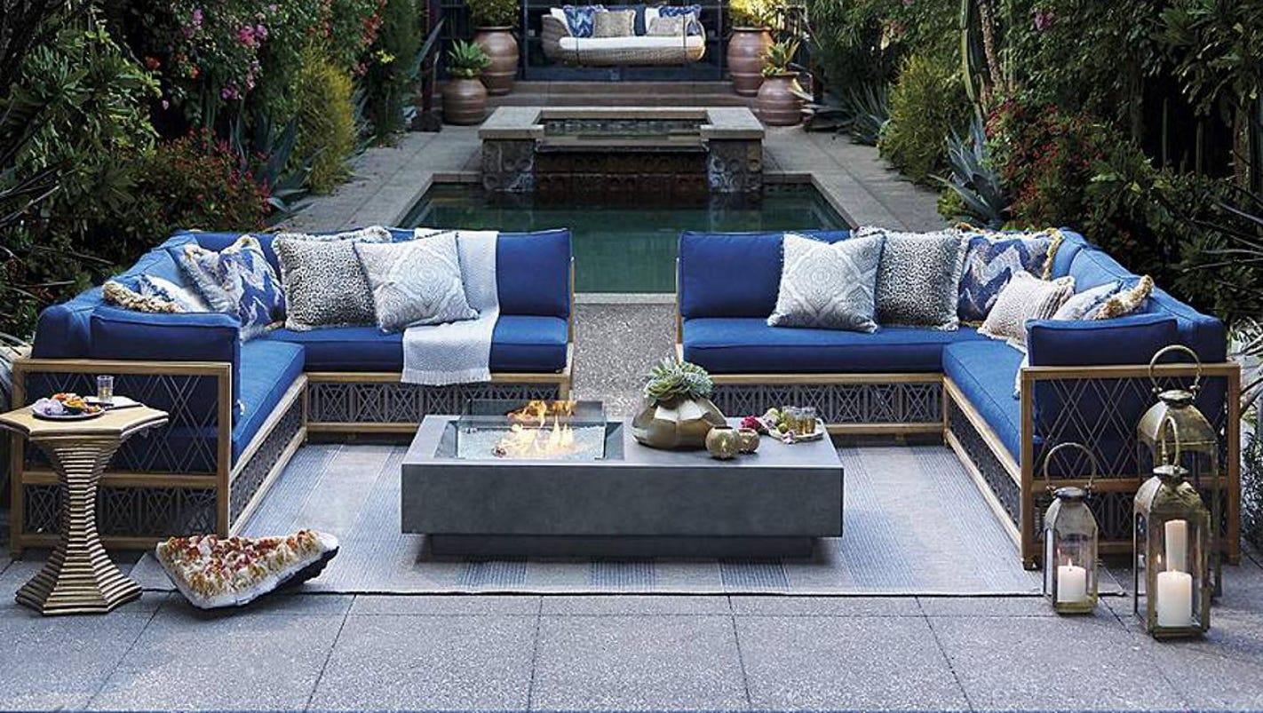 sumptuous outdoor decor evokes memories of travel