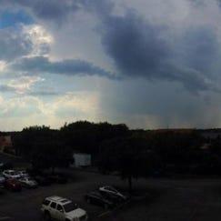 Rain clouds over Austin on Tuesday