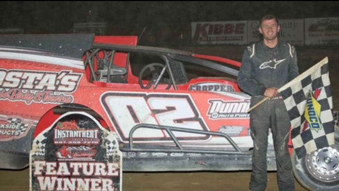 Cory Costa won in the Insinger Performance Modifieds Saturday night at Woodhull Raceway.