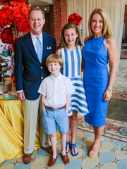 Aaron Aronov front, co-hosted a Beauty and the Beast pre-party with his father, sister and mother, Owen Aronov, Josie Aronov and Loree Aronov at the Alabama Shakespeare Festival to celebrate the stellar performance theatre run of ASF's version of the popular Disney spectacle.